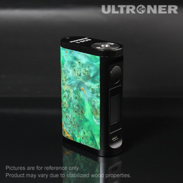 ULTRONER EOS II 180W TC Box Mod Stabilized Wood Green