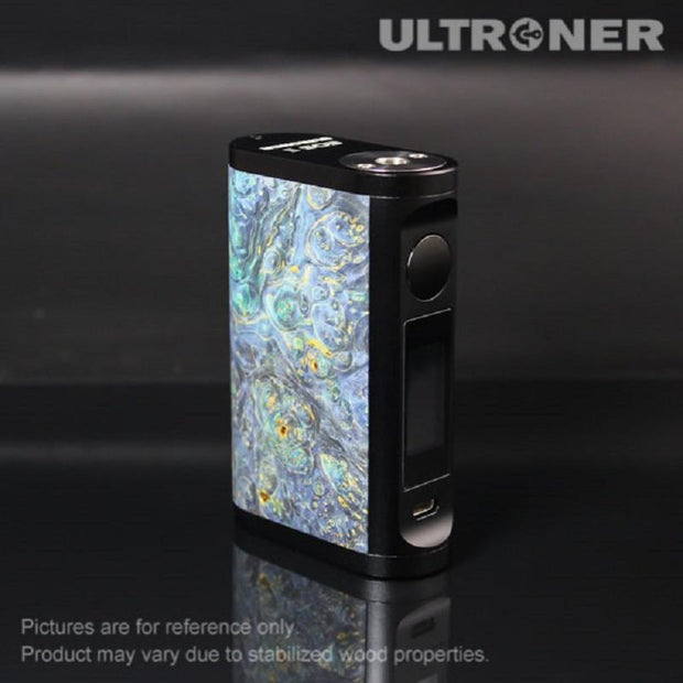 ULTRONER EOS II 180W TC Box Mod Stabilized Wood Blue