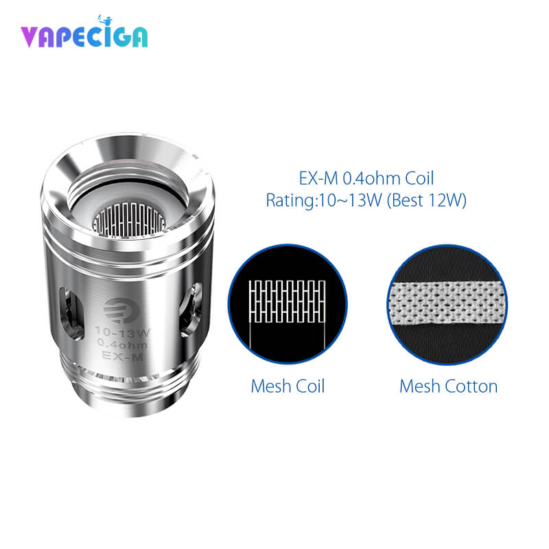 Joyetech Exceed Grip Replacement EX-M Mesh Head 0.4ohm 5PCs