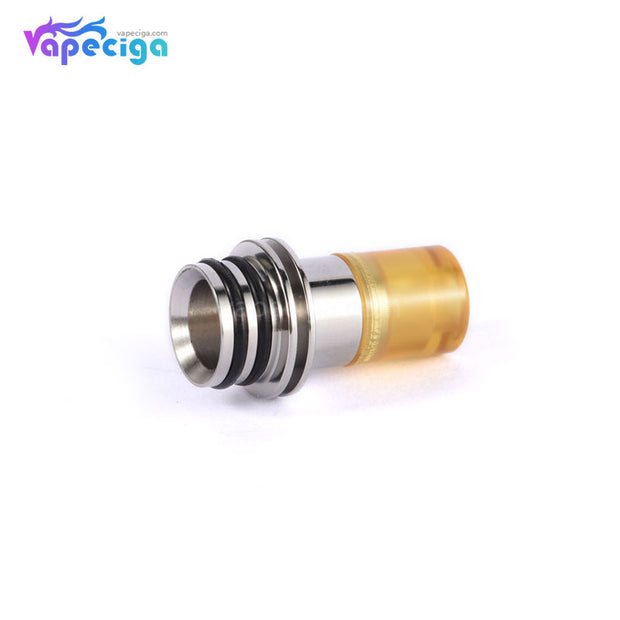 KS DRIP TIP Style POM / PEI + Stainless Steel Mixed 510 Drip Tip Black Jam Edition 3PCs