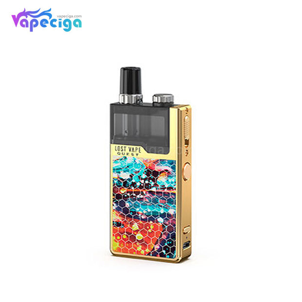 Lost Vape Orion Q-PRO Pod System VW Starter Kit Honeycomb Series Gold/Dazzling