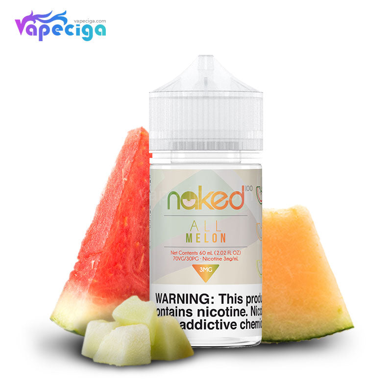Naked 100 Original Fruit E-liquid 30PG / 70VG 3mg 60ml 8 Flavors