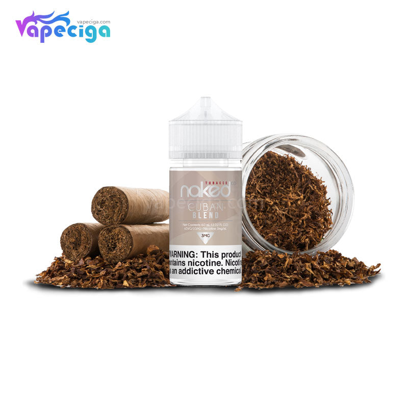 Naked 100 Tobacco E-liquid 30PG / 70VG 3mg 60ml 3 Flavors
