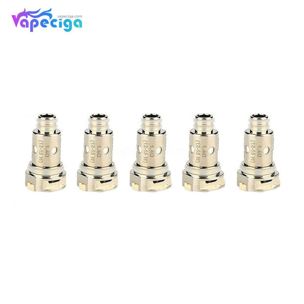 Silver Nevoks Lusty 1.4ohm 12-15W Replacement Ceramic Coil Head 5PCs
