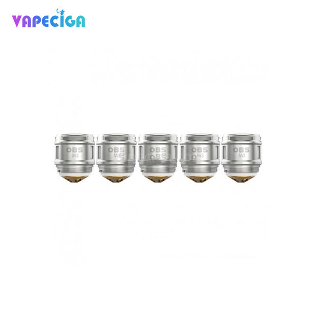 OBS M3 Replacement Mesh Coil Silver 5PCs