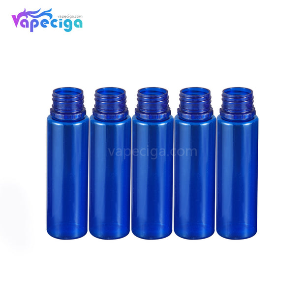 PE Semi-transparent Blue Dropper Bottle 60ml 5PCs