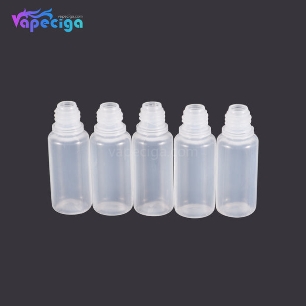 PET Semi-transparent Dropper Bottle 10ml with Black / Blue Cap 5PCs