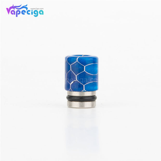 REEVAPE AS104S Straight Resin + Stainless Steel 510 Drip Tip with Single Washer - Blue