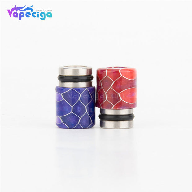 REEVAPE AS104S Straight Resin + Stainless Steel 510 Drip Tip with Single Washer - 2 Colors Display
