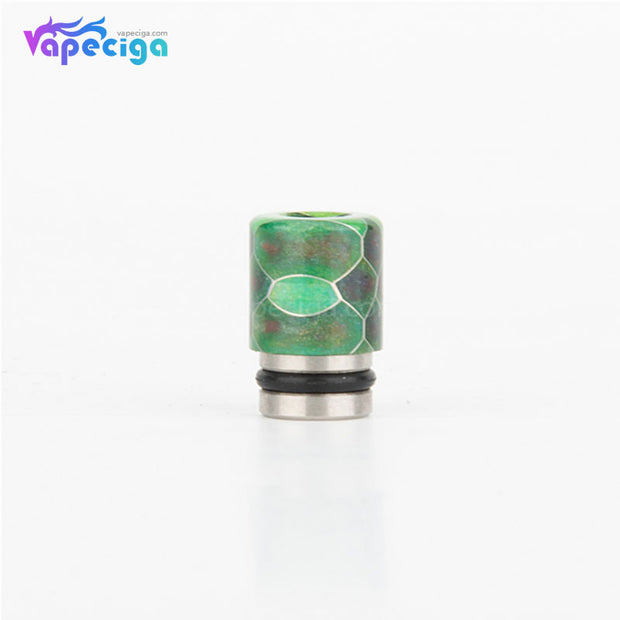 REEVAPE AS104S Straight Resin + Stainless Steel 510 Drip Tip with Single Washer - Dark Green
