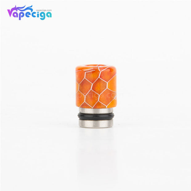 REEVAPE AS104S Straight Resin + Stainless Steel 510 Drip Tip with Single Washer - Orange