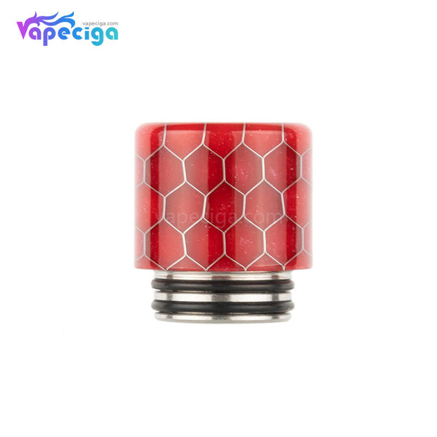 REEVAPE AS272FS Resin 810 / 510 Drip Tip Red with Oil-splash Mesh