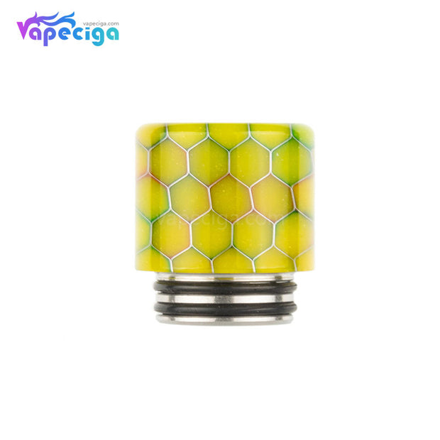 REEVAPE AS272FS Resin 810 / 510 Drip Tip Yellow with Oil-splash Mesh