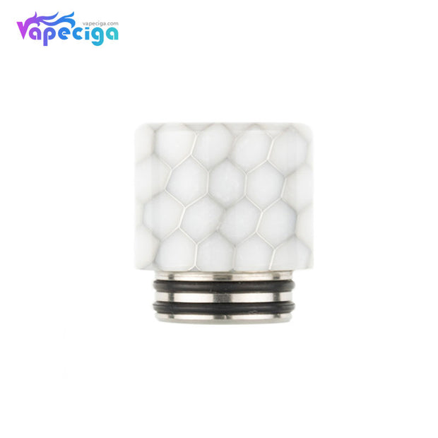 REEVAPE AS272FS Resin 810 / 510 Drip Tip White with Oil-splash Mesh