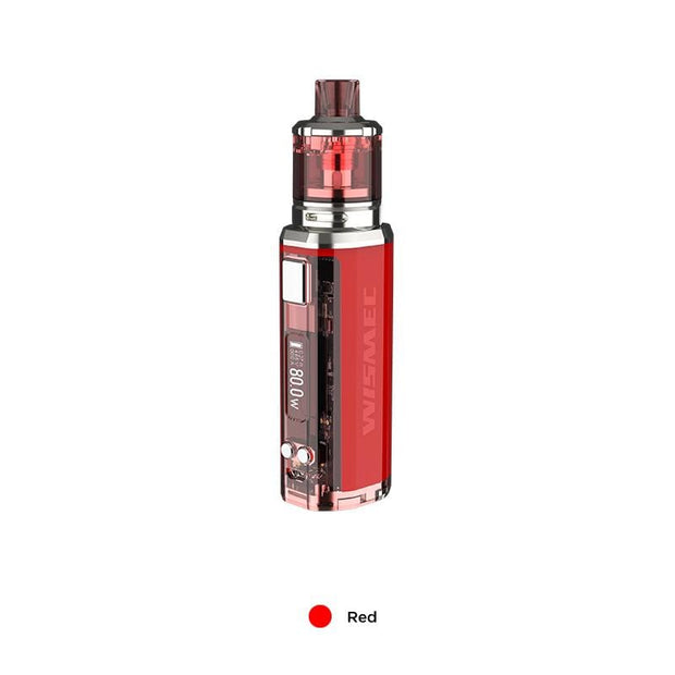 Red WISMEC SINUOUS V80 80W TC Kit