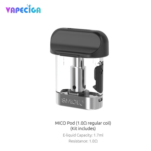 Replacement Pod Cartridges For Smok Mico Kit 3PCS 1.0Ω Regular Coil