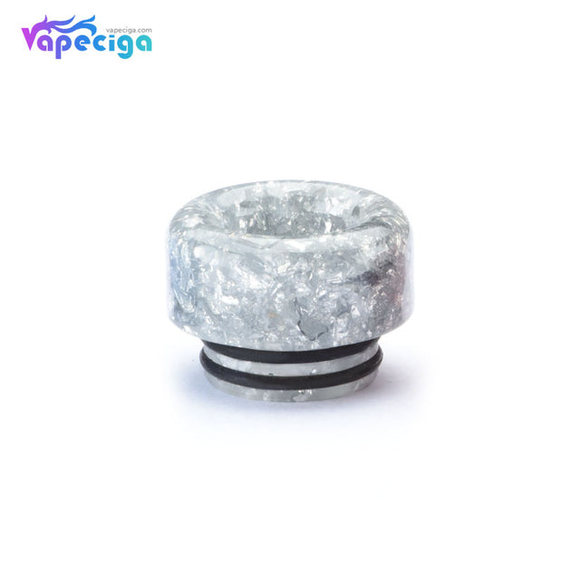 Resin 810 Drip Tip with Oil-splash Mesh Silver