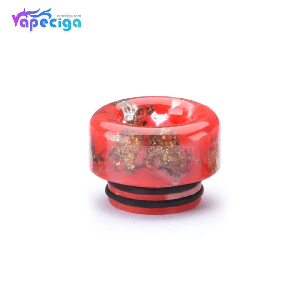 Resin 810 Drip Tip with Oil-splash Mesh Red