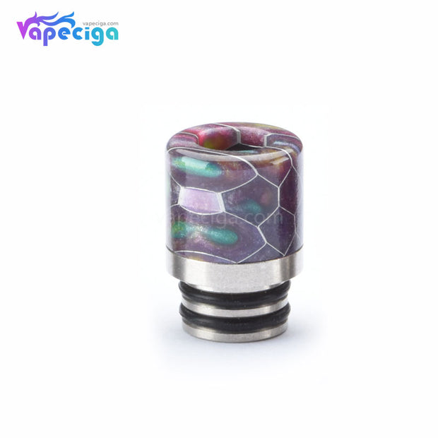 Resin + Stainless Steel Honeycomb 510 Drip Tip with Dual Washer