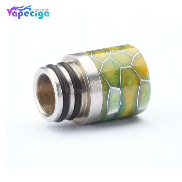 Resin + Stainless Steel Honeycomb 510 Drip Tip with Dual Washer Display