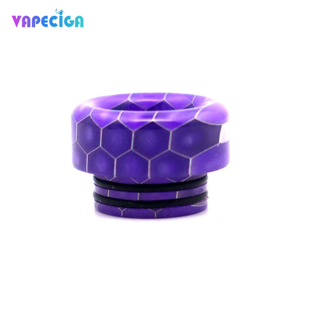 Resin Wide Bore 810 Drip Tip 4PCs Purple