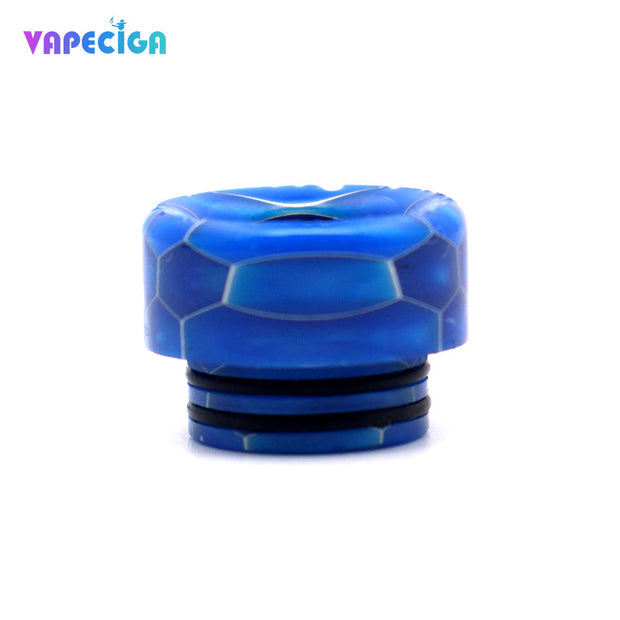 Resin Wide Bore 810 Drip Tip 4PCs Blue