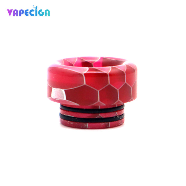 Resin Wide Bore 810 Drip Tip 4PCs Red