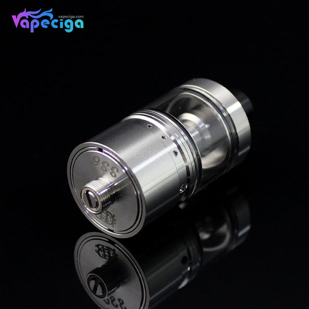 Silver SXK DB Lords Style MTL RTA 22mm 4ml Bottom Details