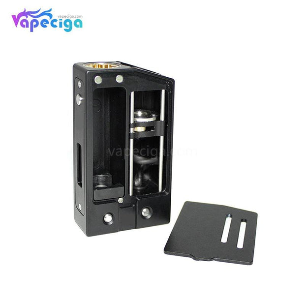 SXK Sunbox E8 Moonraker Style VW Box Mod 70W Black Battery Door Details
