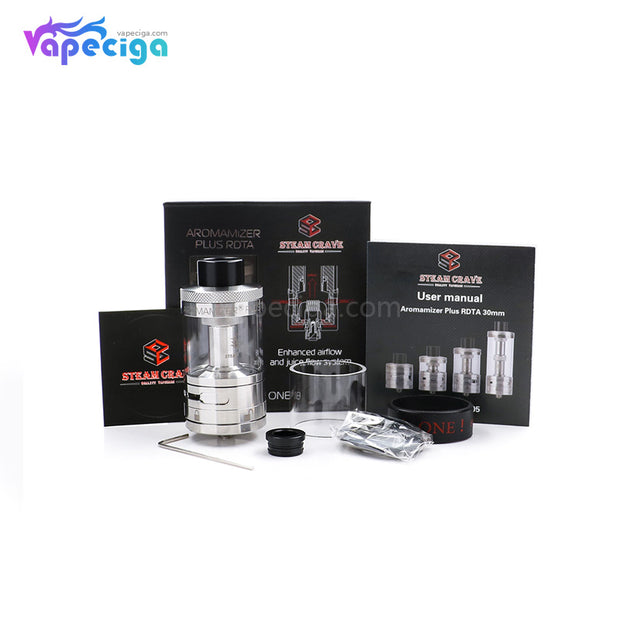 Steam Crave Aromamizer Plus RDTA Kit Package Contents
