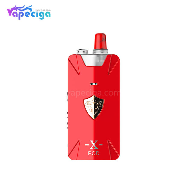 Thunderhead Creations Tauren X Vape Pod System Starter Kit Mesh Version Red 1000mAh 2ml