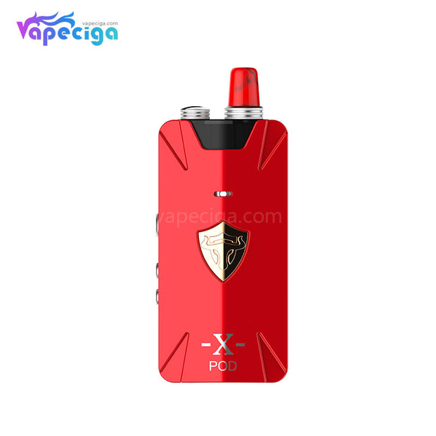 Thunderhead Creations Tauren X Vape Pod System Starter Kit RBA Version Red 1000mAh 2ml