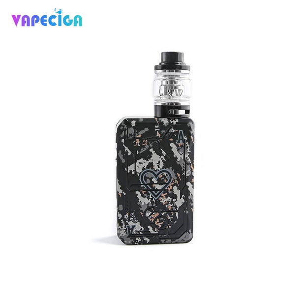 Black Teslacigs POKER 218 Kit 218W Dual TC Box Mod Kit Standard Edition 6ml