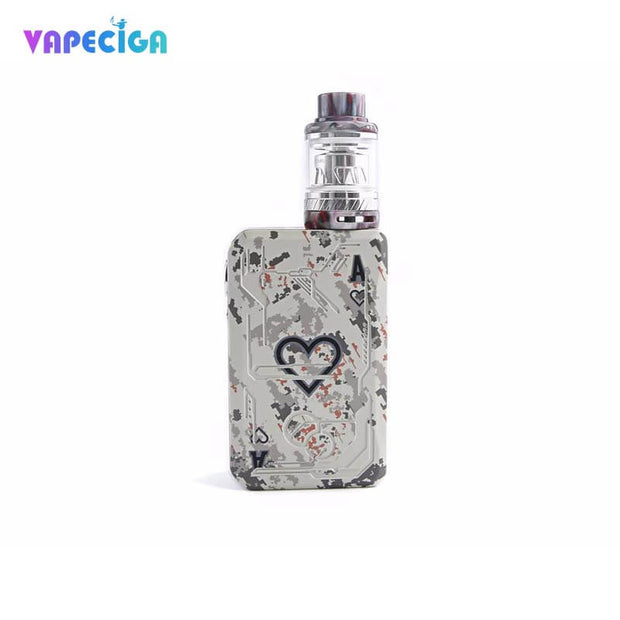 White Teslacigs Poker 218 Kit 218W Dual TC Box Mod Kit TPD Edition 2ml