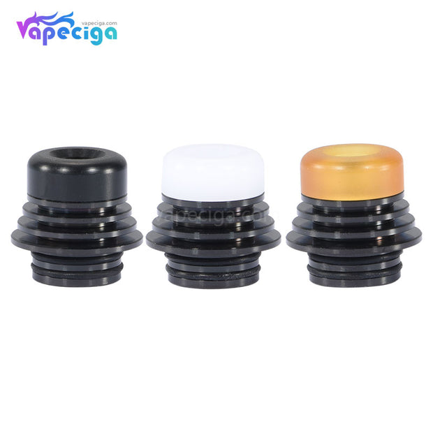 Tower Style Detachable 810 Drip Tip Stainless Steel + POM / PEI 3PCs - Black + Yellow/Blak/White