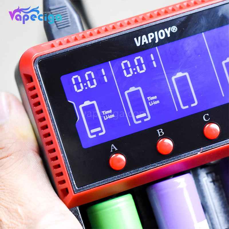 VAPJOY CS4 LCD intelligent Battery Charger US / UK Plug