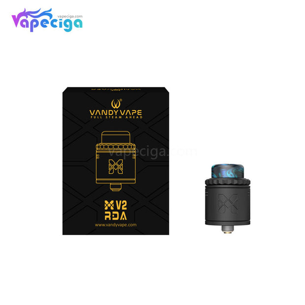 Vandy Vape M V2 RDA 25mm with 4 Replaceable Mesh Coils Package