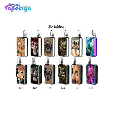 Vapmod Dragoo VV Box Mod 650mAh 3D Edition DIY 3D Panels