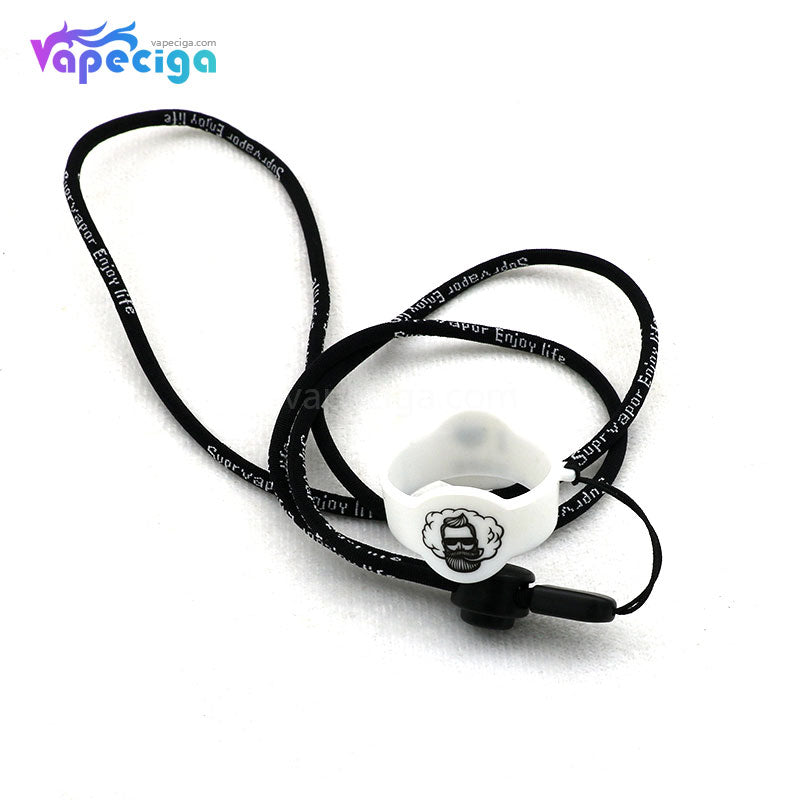 Vivismoke High Elastic Nylon Lanyard with 30*20mm Silicone Ring for Pod System