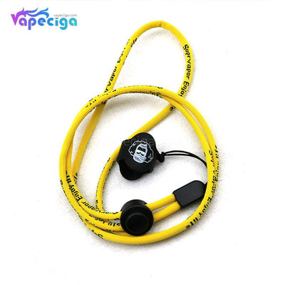 Vivismoke High Elastic Nylon Lanyard with 14*17mm Silicone Ring Yellow