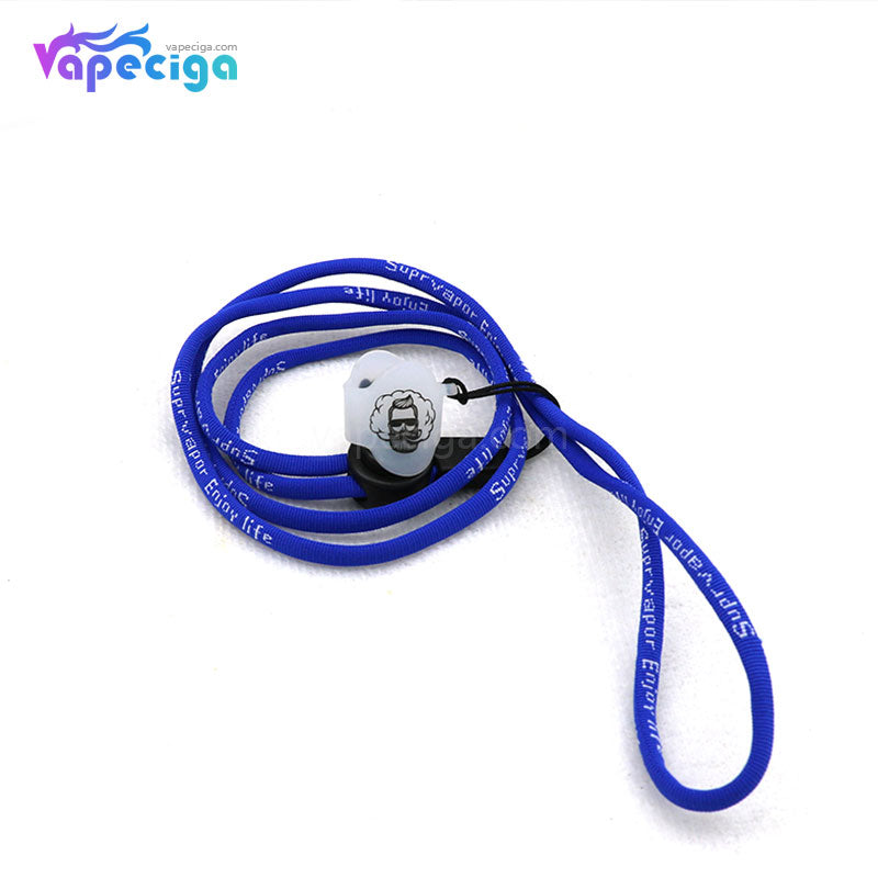 Vivismoke High Elastic Nylon Lanyard with 14*17mm Silicone Ring for Pod System