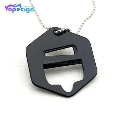 Vivismoke Shortfill Metal Cap Opener with Chain Hexagon