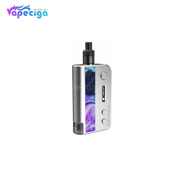 Vsticking VKsma TC Mod Kit with YiHi ESS Chipset Auto Bottom Filling 1400mAh 3ml Coral Silver