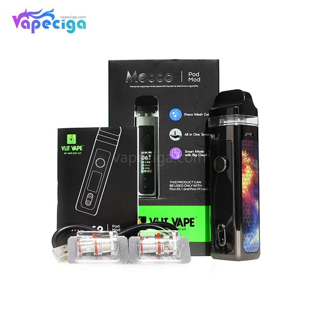 Vzone Mecco 40W Pod Mod VW AIO Kit 1500mAh Package Includes