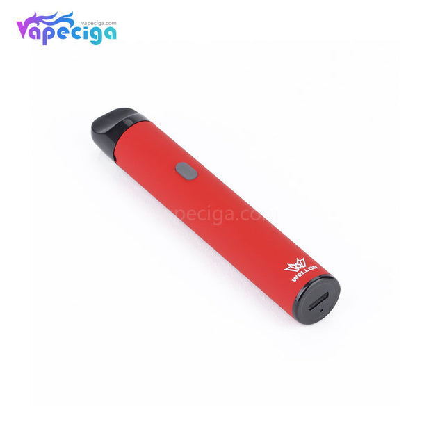 Red WELLON STAN Vape Pod System Starter Kit 650mAh 1.0ml Real Shots