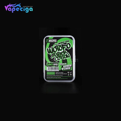 White WOTOFO Vape Wicking Organic Cotton for Wiring Coil 3mm 30PCs