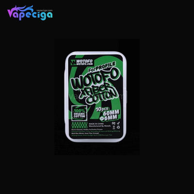 WOTOFO Vape Wicking Xfiber Cotton 6mm for Profile RDA 10PCs