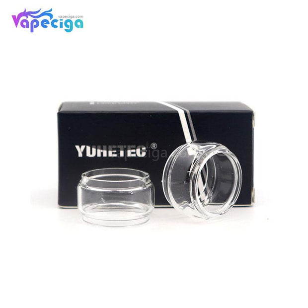YUHETEC Transparent Replacement Fatboy Glass Tank Tube for Vandy Vape Kylin M RTA 4.5ml 2PCs Real Shots