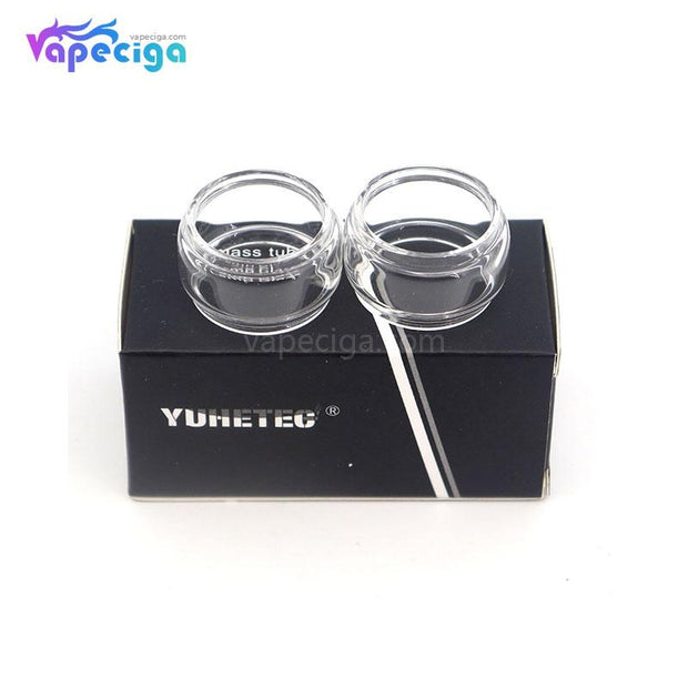 YUHETEC Transparent Replacement Fatboy Glass Tank Tube for Vandy Vape Kylin M RTA 4.5ml 2PCs