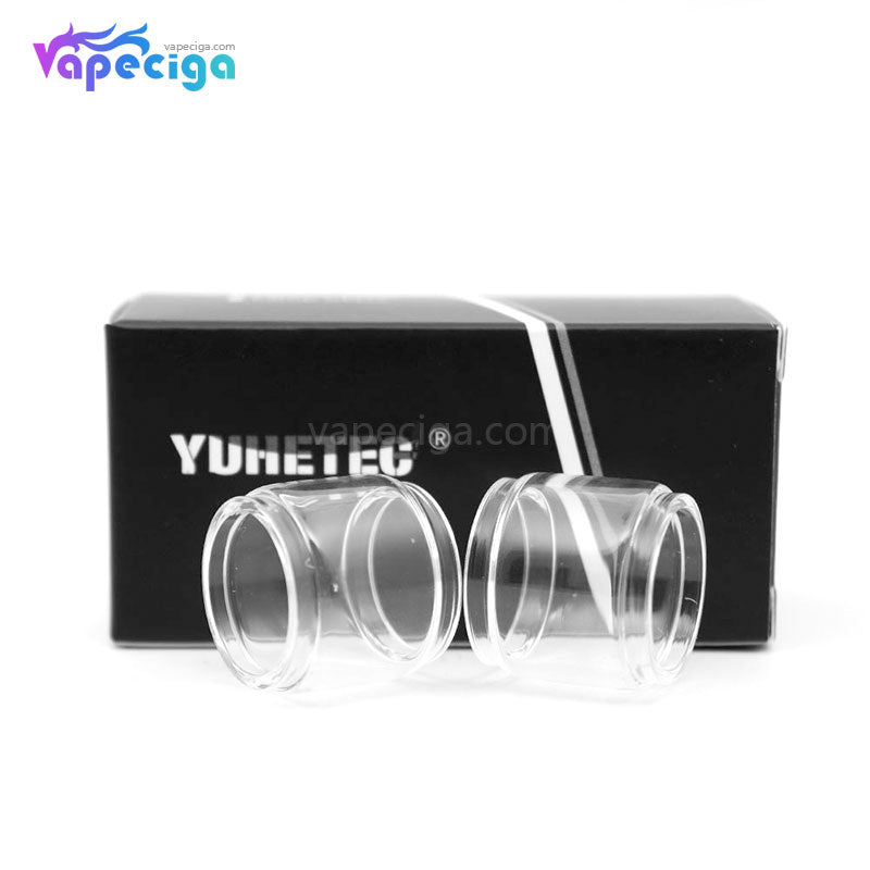 YUHETEC Replacement Glass Bubble Tank Tube for Aspire PockeX 2PCs